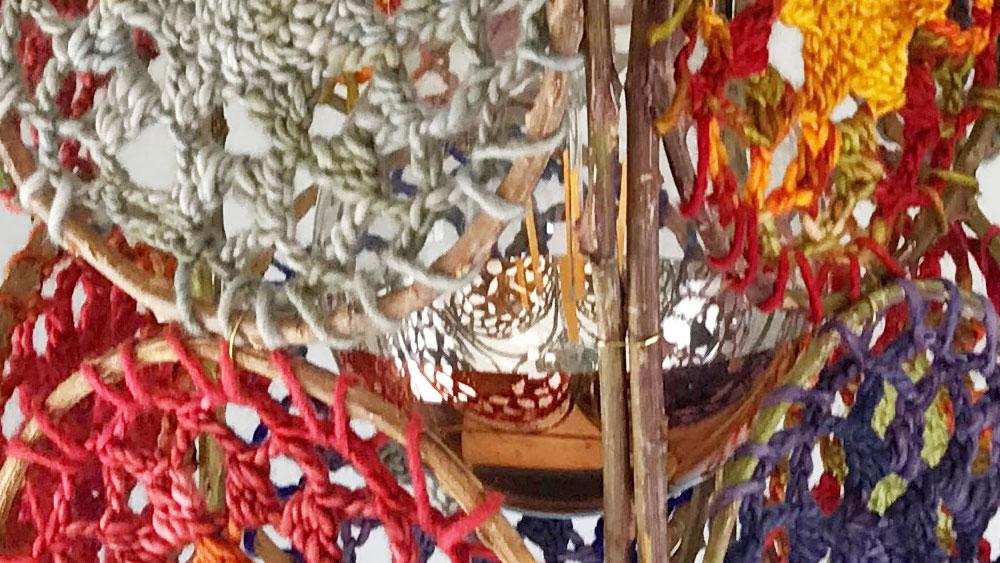 Zarza crocheted cylinder lightshade